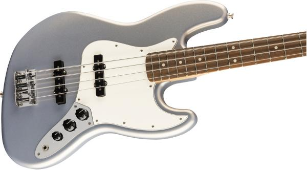 Basse électrique solid body Fender Player Jazz Bass (MEX, PF) - silver