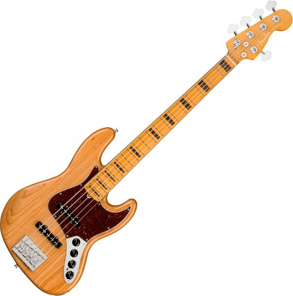 Basse électrique solid body Fender American Ultra Jazz Bass V (USA, MN) - aged natural