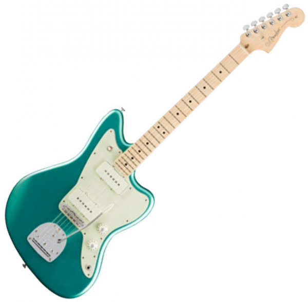 Guitare électrique solid body Fender American Professional Jazzmaster (USA, MN) - Mystic seafoam