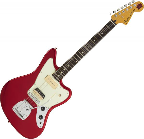 Guitare électrique solid body Fender Jean-Ken Johnny Jaguar (Japan, RW) - candy apple red