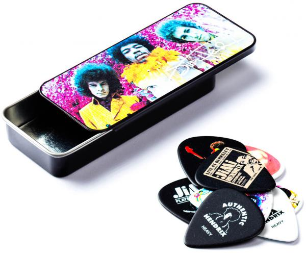 Pack guitare électrique Fender Jimi Hendrix Monterey Strat + Jim Dunlop JHM6 Pack - hand painted custom