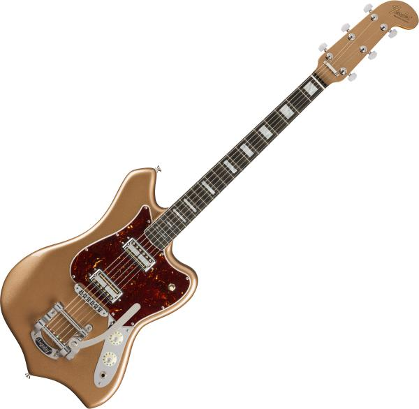 Guitare électrique solid body Fender Parallel Universe Volume II Maverick Dorado (USA, EB) - firemist gold