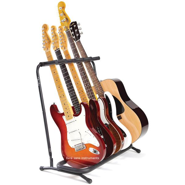 Stand & support guitare & basse Fender Multi Folding 5 Guitar Stand