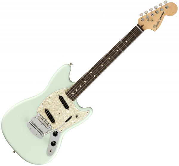 Guitare électrique solid body Fender American Performer Mustang (USA, RW) - satin sonic blue