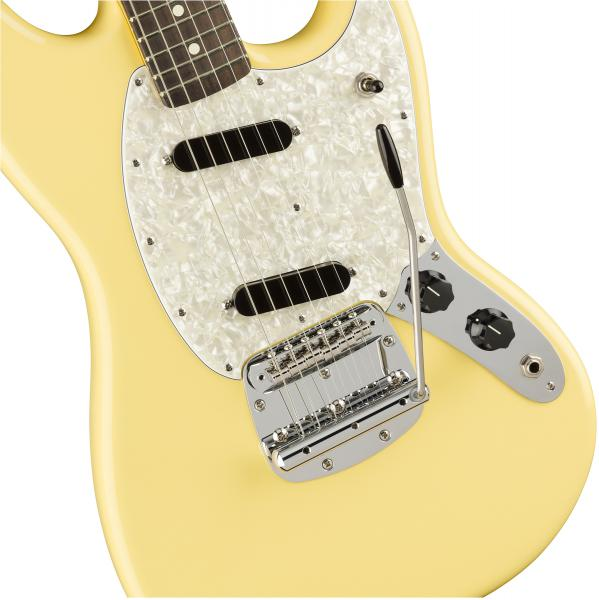 Guitare électrique solid body Fender American Performer Mustang (USA, RW) - vintage white