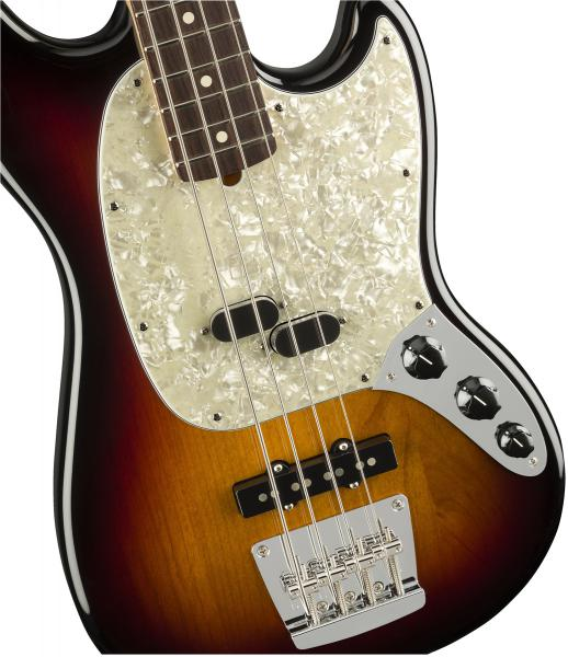 Basse électrique solid body Fender American Performer Mustang Bass (USA, RW) - 3-color sunburst