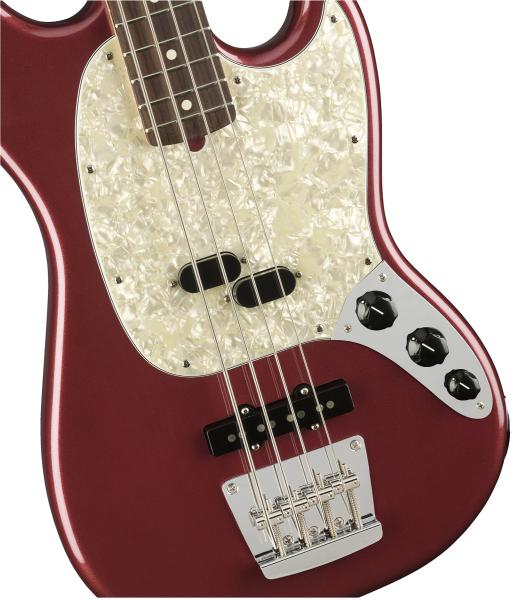 Basse électrique solid body Fender American Performer Mustang Bass (USA, RW) - aubergine