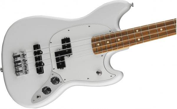 Basse électrique short scale Fender Mustang Bass PJ (MEX, PF) - olympic white