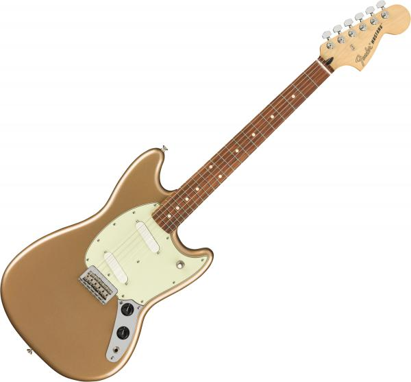 Guitare électrique solid body Fender Player Mustang (MEX, PF) - Firemist gold