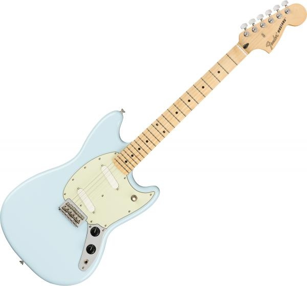 Guitare électrique solid body Fender Player Mustang (MEX, MN) - Surf blue