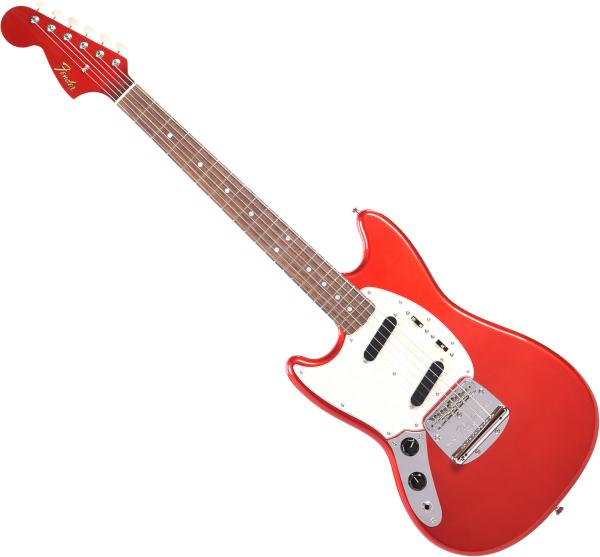 Guitare électrique solid body Fender Traditional '60s Mustang Gaucher Ltd (Japan, RW) - Candy apple red
