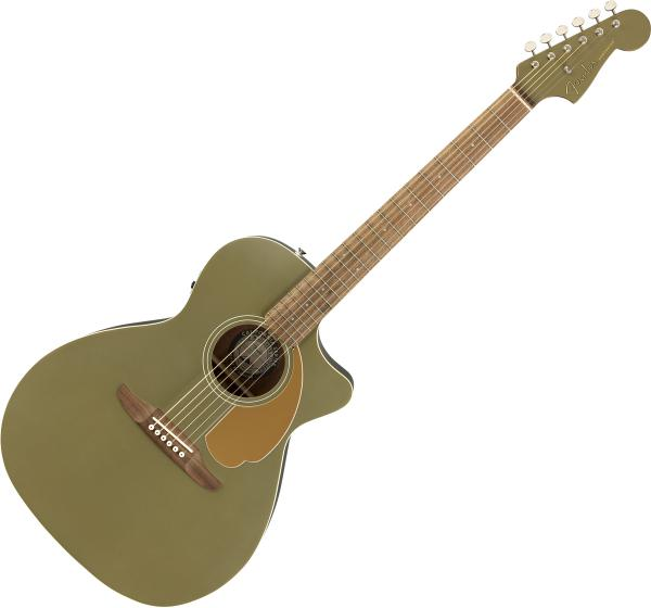 Guitare folk & electro Fender Newporter Player (WAL) - olive satin
