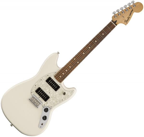 Guitare électrique solid body Fender Offset Mustang 90 (MEX, PF) - olympic white