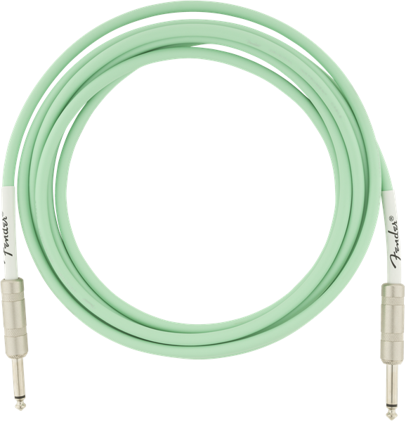 Câble Fender Original Instrument Cable, Straight, 10ft - Surf Green