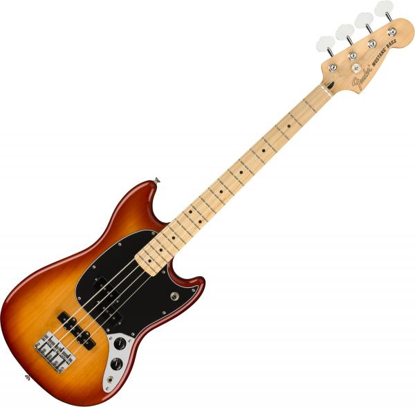 Basse électrique short scale Fender Player Mustang Bass PJ (MEX, MN) - Sienna sunburst