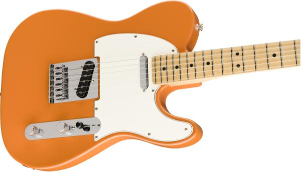 Guitare électrique solid body Fender Player Telecaster (MEX, MN) - capri orange