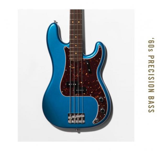 Basse électrique solid body Fender American Original '60s Precision Bass (USA, RW) - lake placid blue
