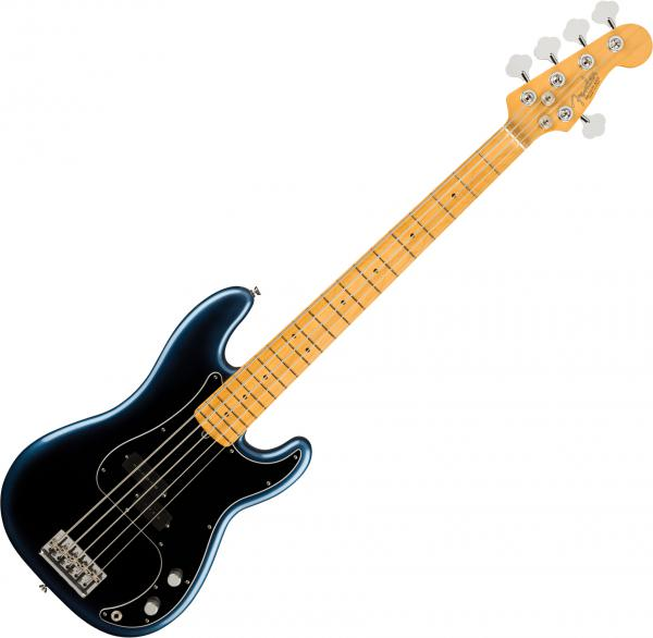 Basse électrique solid body Fender American Professional II Precision Bass V (USA, MN) - Dark night