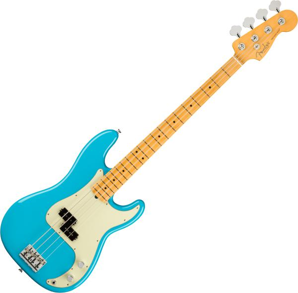 Basse électrique solid body Fender American Professional II Precision Bass (USA, MN) - Miami blue
