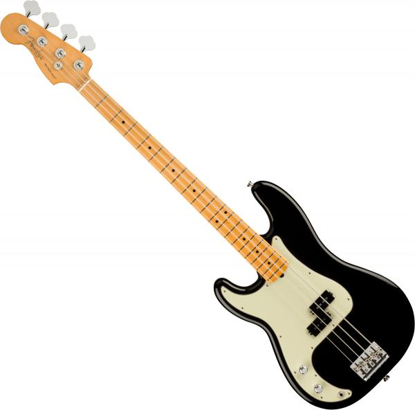 Basse électrique solid body Fender American Professional II Precision Bass Gaucher (USA, MN) - Black