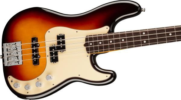 Basse électrique solid body Fender American Ultra Precision Bass (USA, RW) - ultraburst