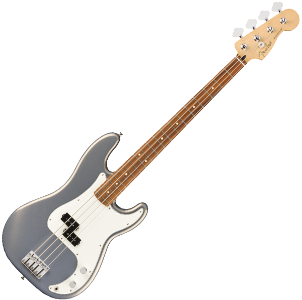 Basse électrique solid body Fender Player Precision Bass (MEX, PF) - Silver