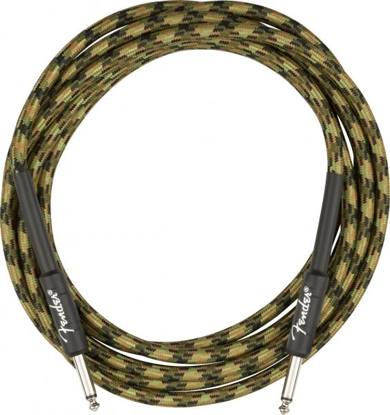 Câble Fender Professional Series Instrument Cable, Straight/Straight, 10ft - Woodland Camo