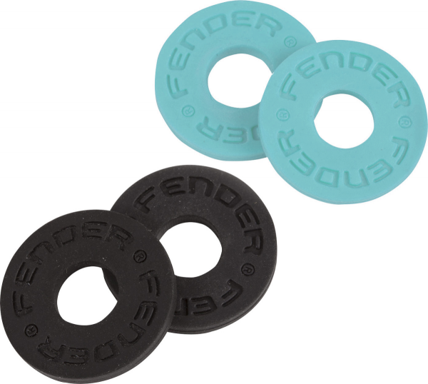 Strap lock Fender Strap Blocks 4-Pack - Black & Daphne Blue