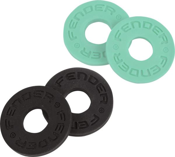 Strap lock Fender Strap Blocks 4-Pack - Black & Surf Green