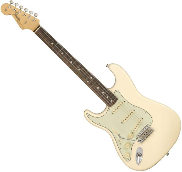 Guitare électrique solid body Fender American Original '60s Stratocaster Gaucher (USA, RW) - olympic white