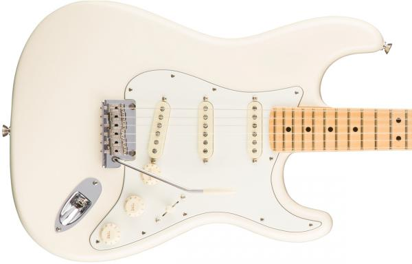 Guitare électrique solid body Fender American Professional Stratocaster (USA, MN) - olympic white