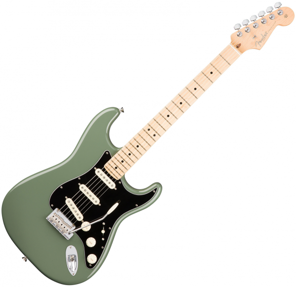 Guitare électrique solid body Fender American Professional Stratocaster (USA, MN) - Antique olive