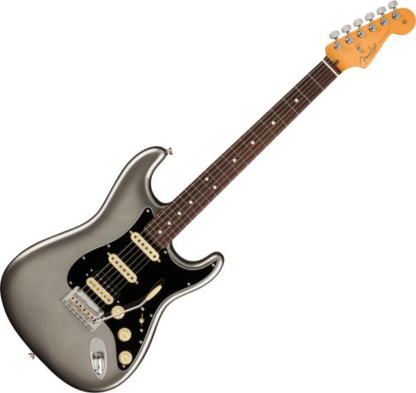 Guitare électrique solid body Fender American Professional II Stratocaster HSS (USA, RW) - Mercury