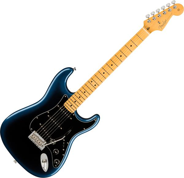 Guitare électrique solid body Fender American Professional II Stratocaster (USA, MN) - Dark night