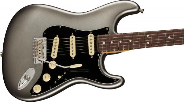 Guitare électrique solid body Fender American Professional II Stratocaster (USA, RW) - mercury