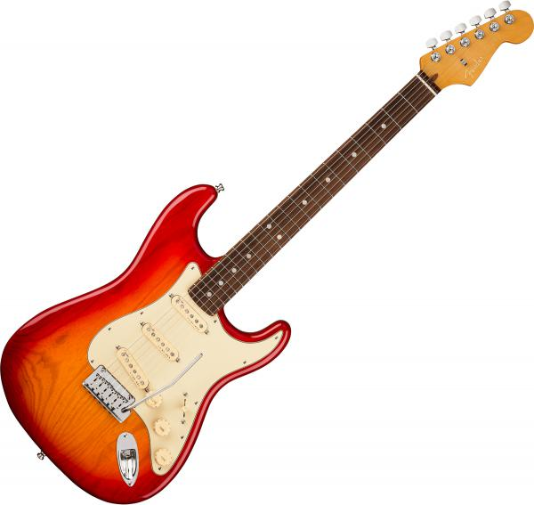 Guitare électrique solid body Fender American Ultra Stratocaster HSS (USA, MN) - plasma red burst