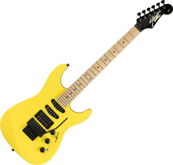 Guitare électrique solid body Fender HM Strat Ltd (Japan, MN) - Frozen yellow