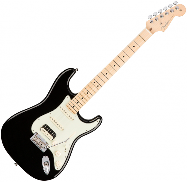 Guitare électrique solid body Fender American Professional Stratocaster HSS Shawbucker (USA, MN) - Black