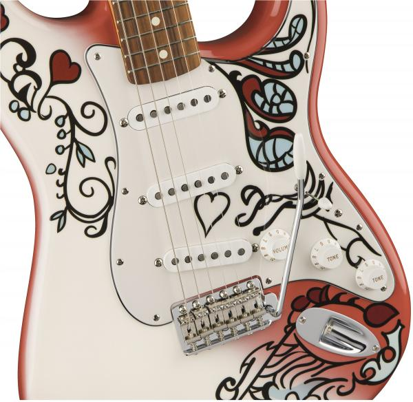Guitare électrique solid body Fender Jimi Hendrix Stratocaster Monterey - hand painted custom