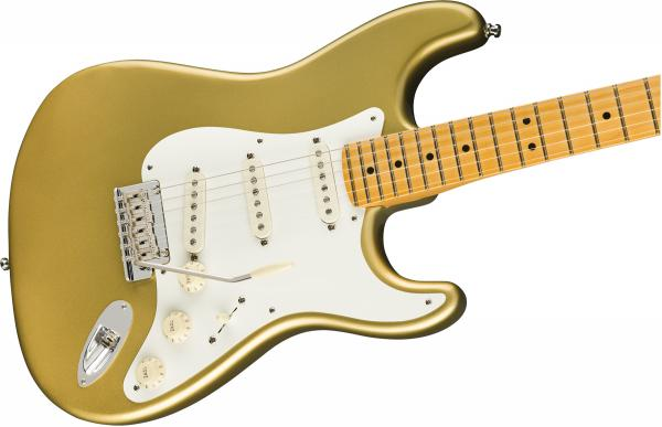 Guitare électrique solid body Fender Lincoln Brewster Stratocaster (USA, MN) - aztec gold