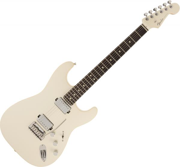 Guitare électrique solid body Fender Made in Japan Modern Stratocaster HH (RW) - Olympic pearl
