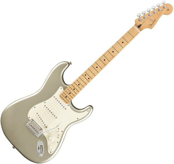 Guitare électrique solid body Fender Player Stratocaster Ltd (MEX, MN) - inca silver