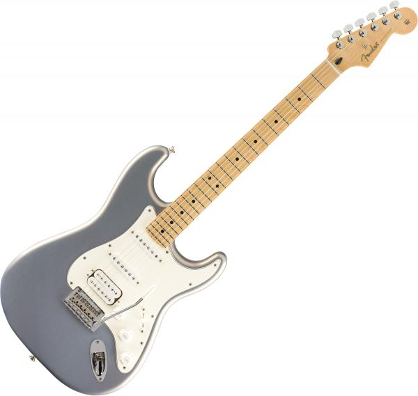 Guitare électrique solid body Fender Player Stratocaster HSS (MEX, MN) - silver