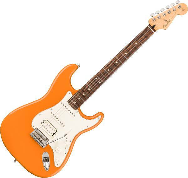 Guitare électrique solid body Fender Player Stratocaster HSS (MEX, PF) - capri orange