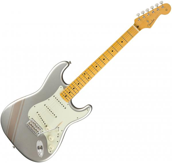 Guitare électrique solid body Fender Traditional '50s Stratocaster (Japan, MN) - competition inca silver