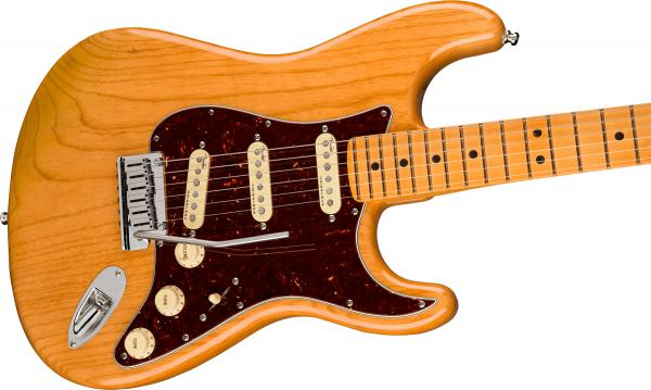Guitare électrique solid body Fender American Ultra Stratocaster (USA, MN) - aged natural
