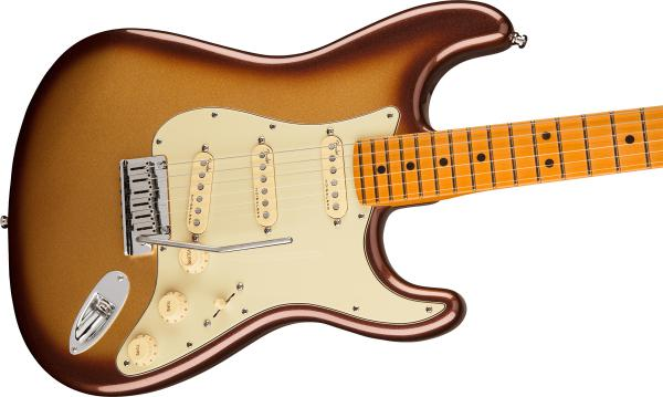 Guitare électrique solid body Fender American Ultra Stratocaster (USA, MN) - mocha burst