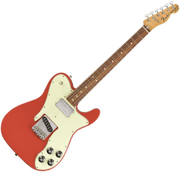 Guitare électrique solid body Fender Vintera 70's Telecaster Custom (MEX, PF) - fiesta red