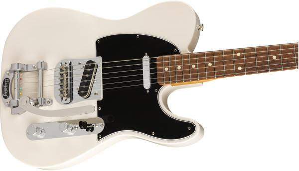 Guitare électrique solid body Fender Vintera 60's Telecaster Bigsby (MEX, PF) - white blonde