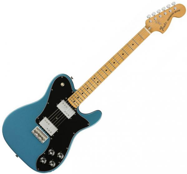 Guitare électrique solid body Fender Vintera 70's Telecaster Custom Ltd (MEX, MN) - Lake placid blue
